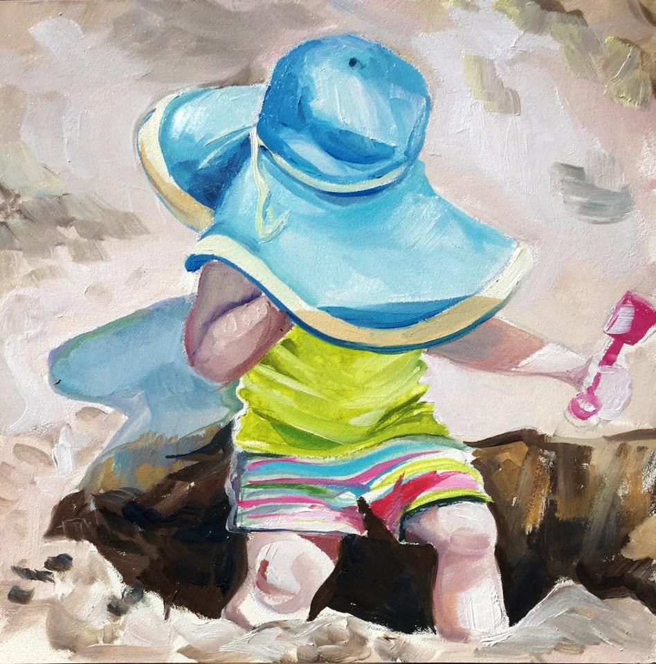 """Sand Crab"" original fine art by Lauren Kuhn"