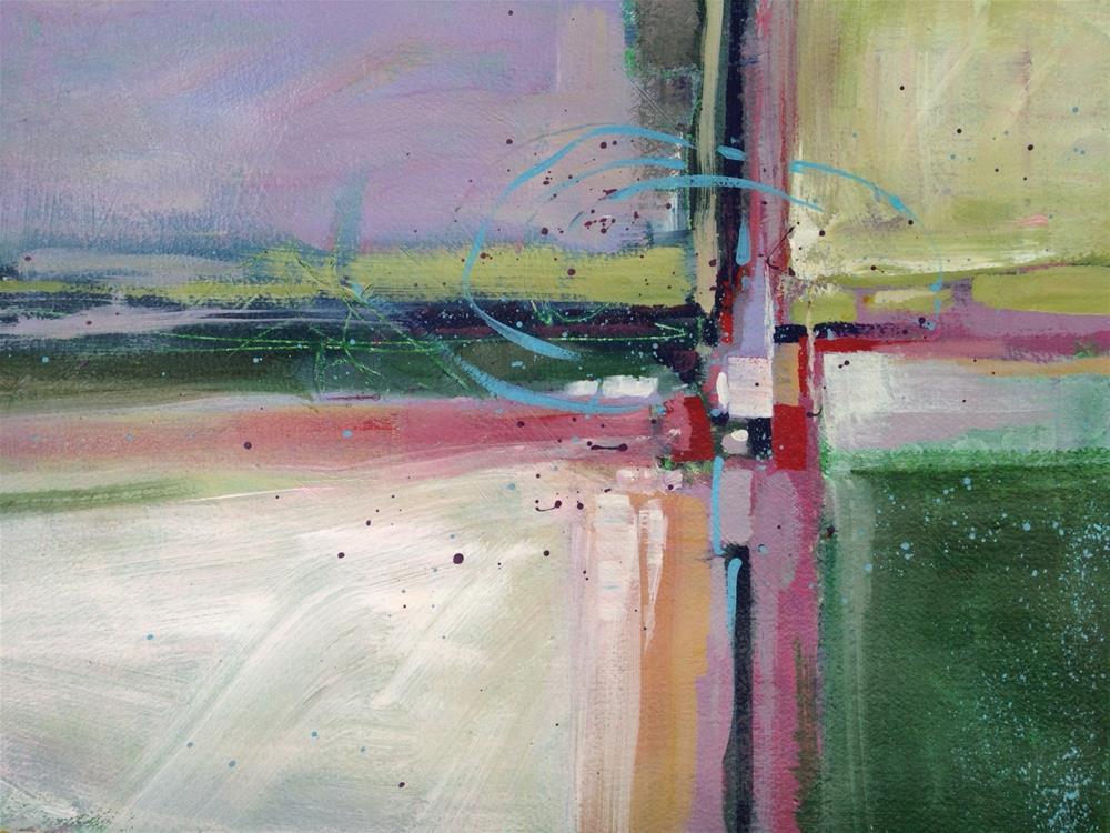 """Lavendar Abstract"" original fine art by Margie Whittington"
