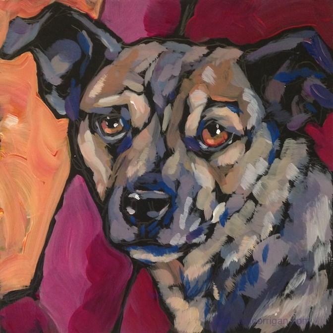"""""""Seeking Approval"""" original fine art by Kat Corrigan"""