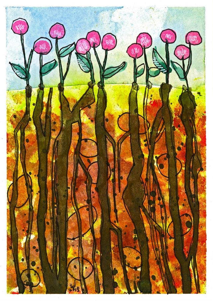 """""""Rooted - Earth"""" original fine art by Tonya Doughty"""