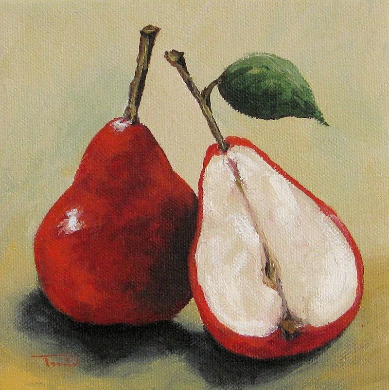 """Red Pears"" original fine art by Torrie Smiley"