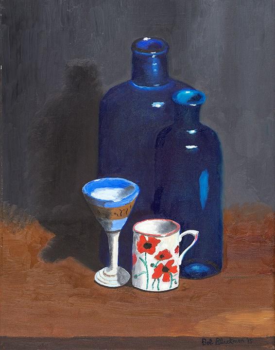 """Poppies and The Blues"" original fine art by Bob Blackmon"