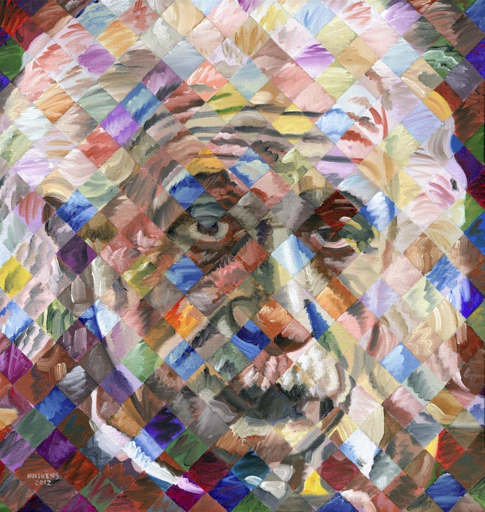 """""""Albert Einstein"""" original fine art by Randal Huiskens"""