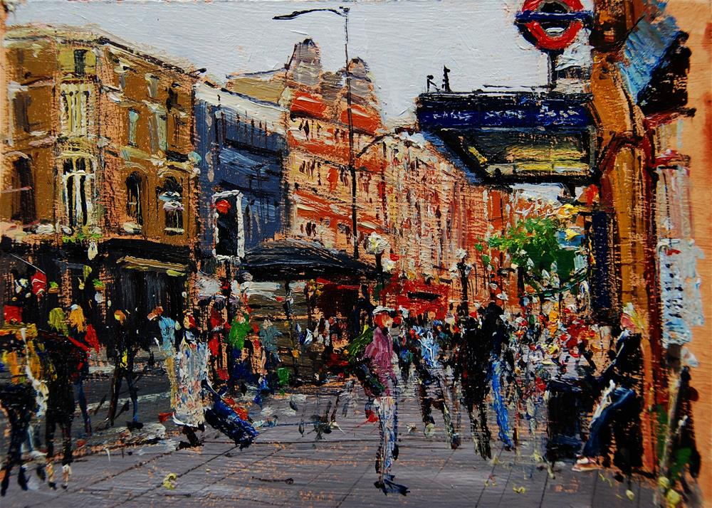 """Morning Rush Hour, earls court"" original fine art by Adebanji Alade"