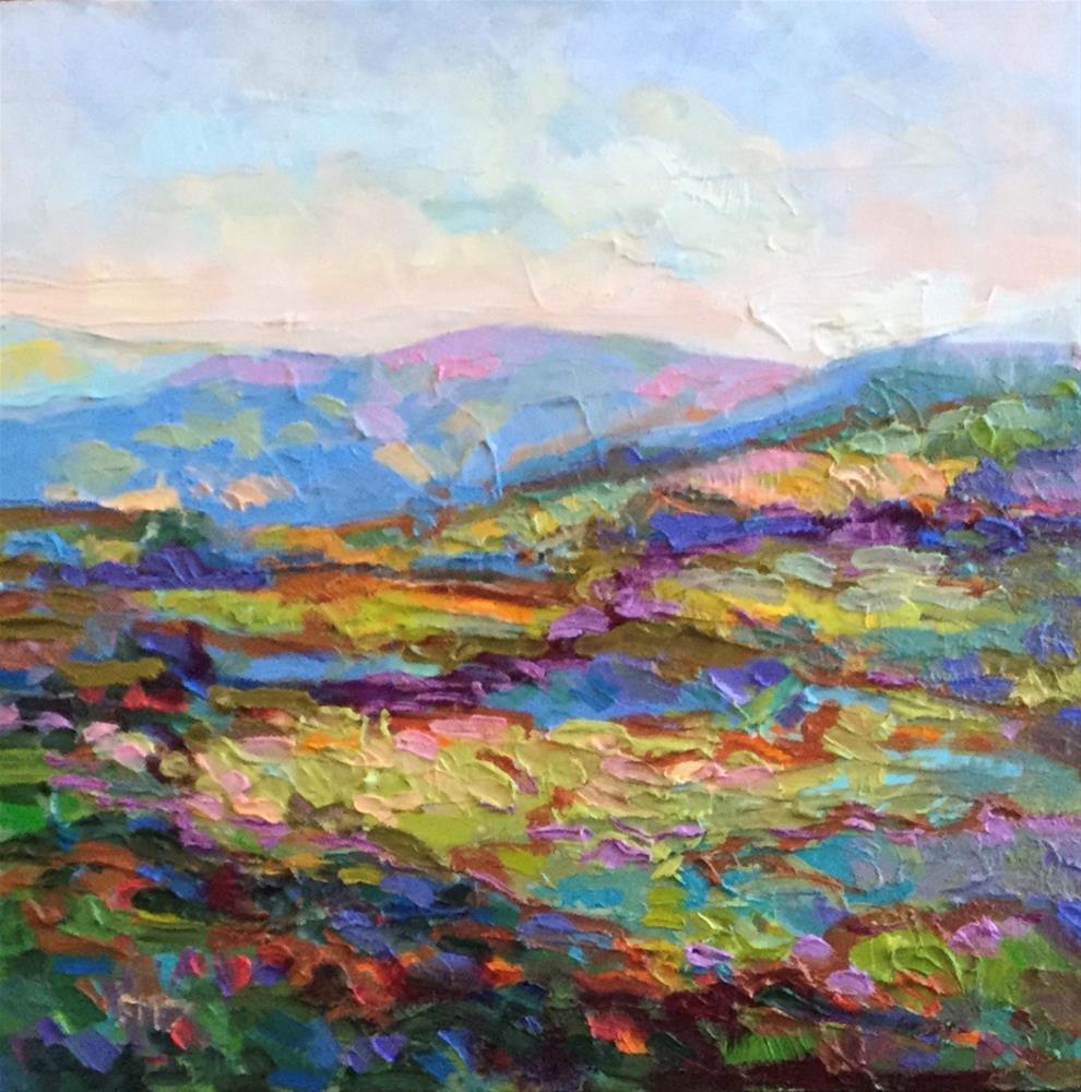 """Impasto Landscape Study 48"" original fine art by Charlotte Fitzgerald"