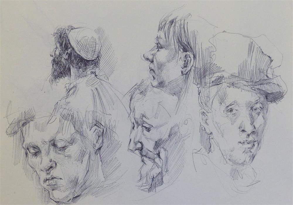 """sketchbook58"" original fine art by Katya Minkina"