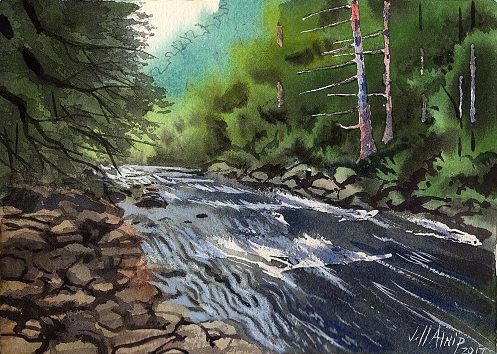 """East Tennessee Creek"" original fine art by Jeff Atnip"