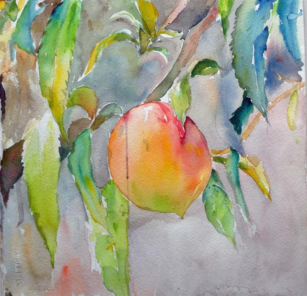 """""""Ripe peach"""" original fine art by Wenqing Xu"""
