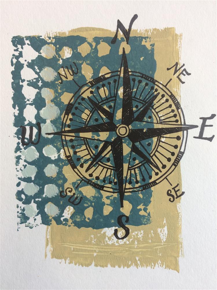 """Compass Print"" original fine art by Teddi Parker"