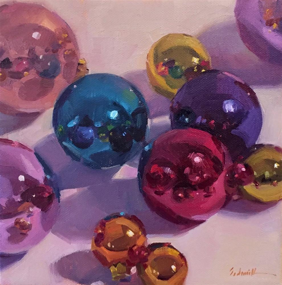 """Merry and Bright"" original fine art by Sarah Sedwick"