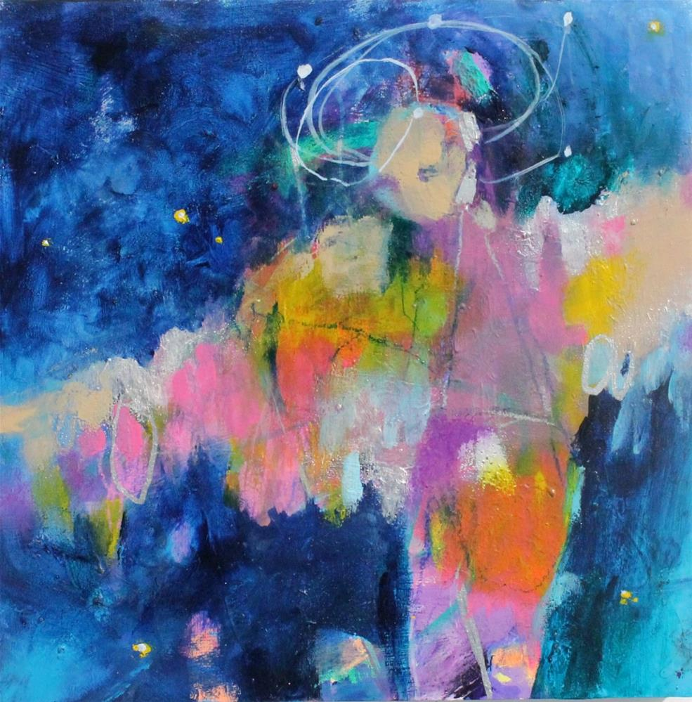 """Flying Through the Cosmos"" original fine art by Kerri Blackman"