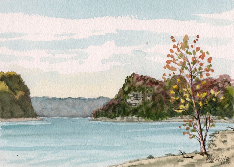 """Tennessee River View"" original fine art by Jeff Atnip"