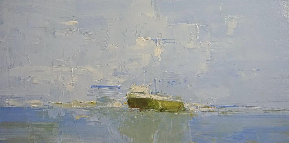 """Mercy Ships 12x24 oil proceeds go to Mercyships.org"" original fine art by Deborah R Hill"