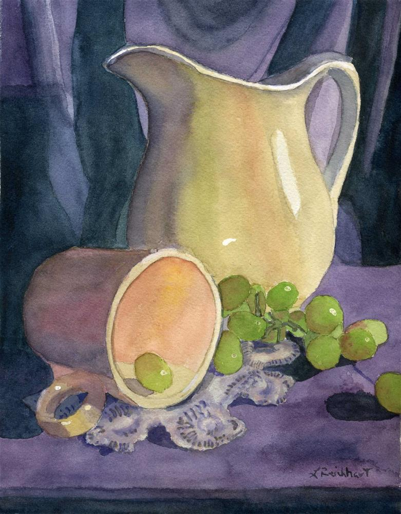 """""""Drapes and Grapes"""" original fine art by Lynne Reichhart"""