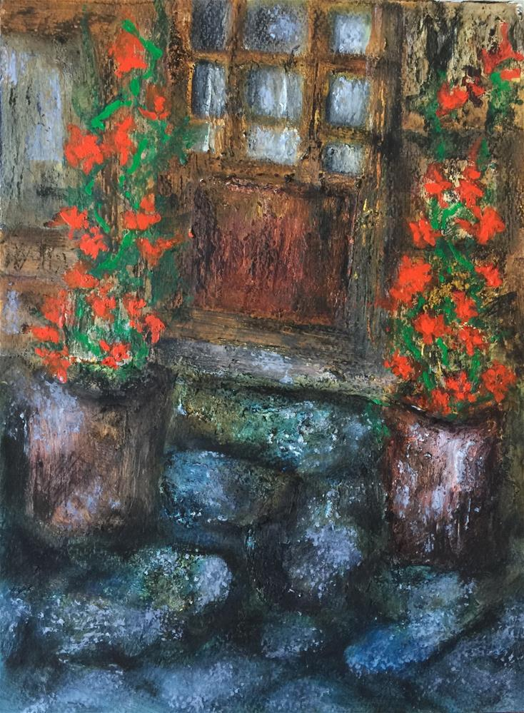"""Door"" original fine art by Monica Pinotti"