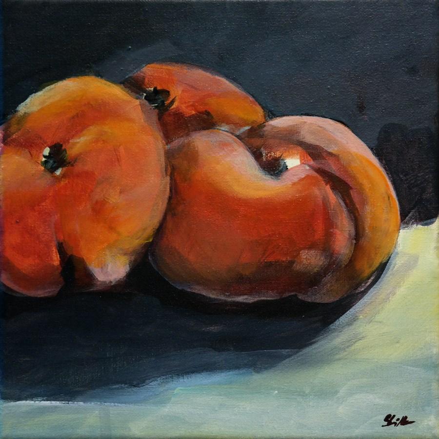 """""""1482 Peaches Demo"""" original fine art by Dietmar Stiller"""