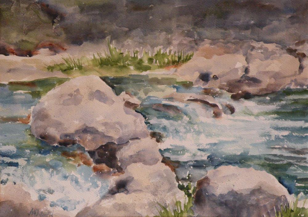 """Guadalupe Run"" original fine art by Alice O'Leary"