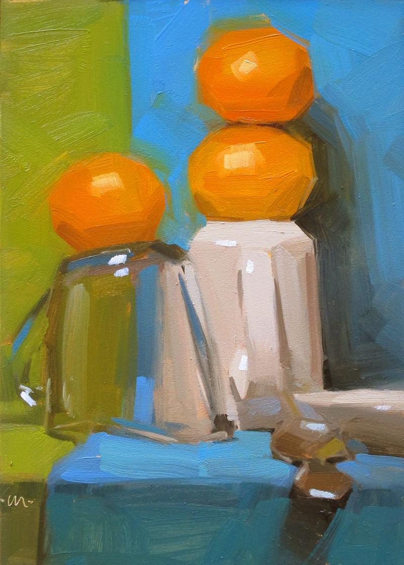 """Balancing Act"" original fine art by Carol Marine"