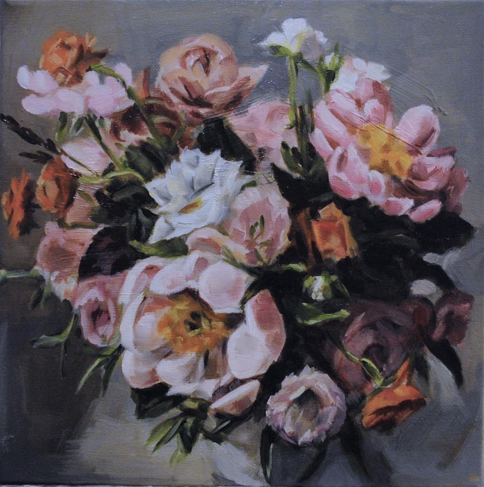 """Floral Cluster"" original fine art by Tamanda Elia"