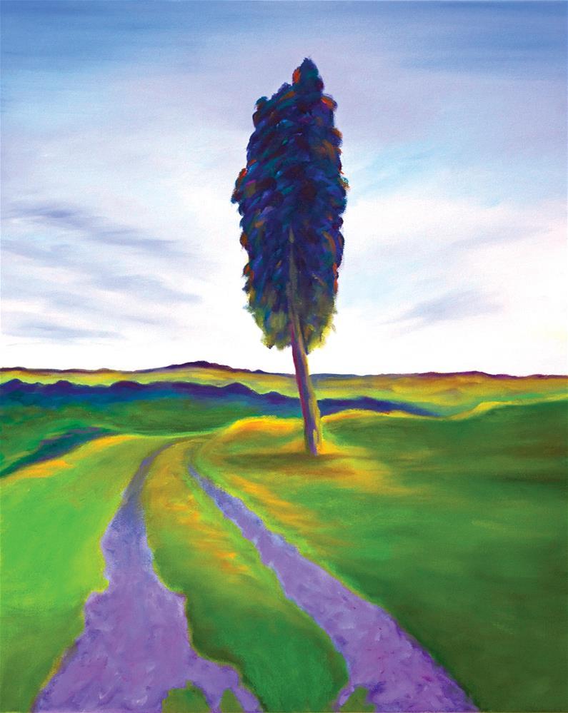 """Tuscany Tree"" original fine art by Susan Bertocci"