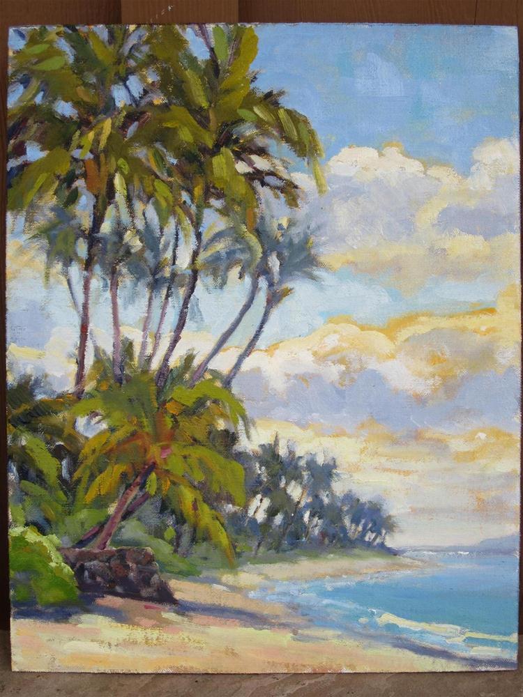 """""""maui shore"""" original fine art by Leigh Alexandra Sparks"""