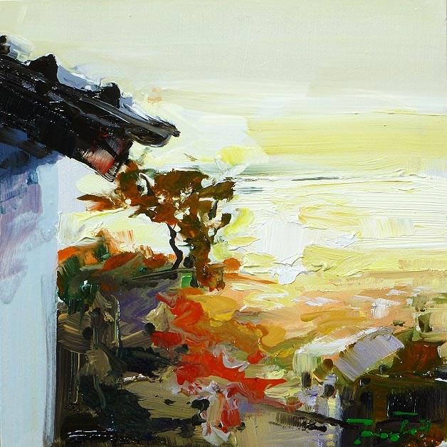 """good Morning Michael!"" original fine art by Jurij Frey"