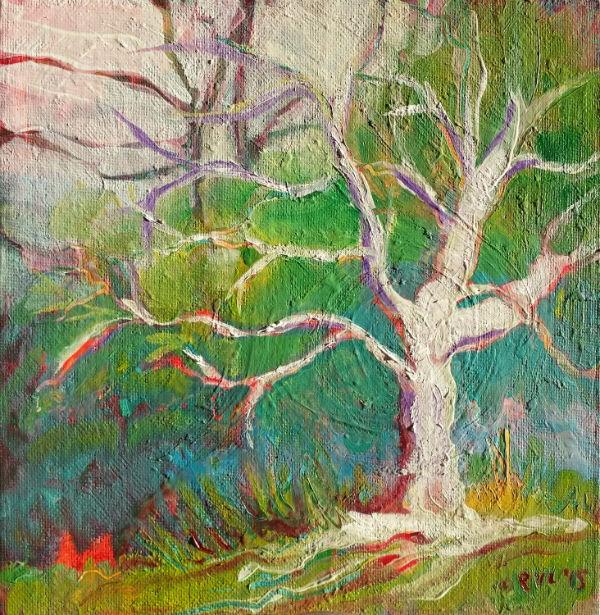 """""""Park Trees 18 landscape oil painting"""" original fine art by Pam Van Londen"""