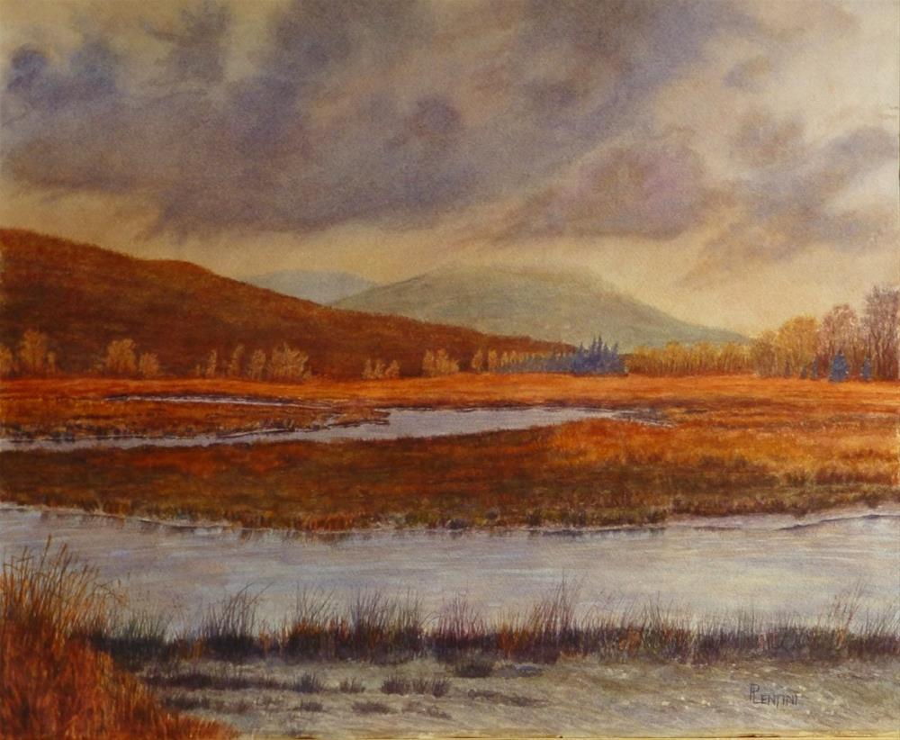 """November Estuary"" original fine art by Peter Lentini"