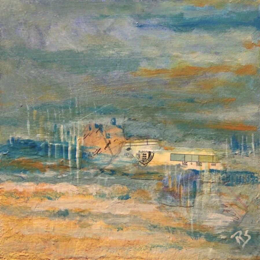 """""""Oceans Apart"""" original fine art by Roberta Schmidt ArtcyLucy"""