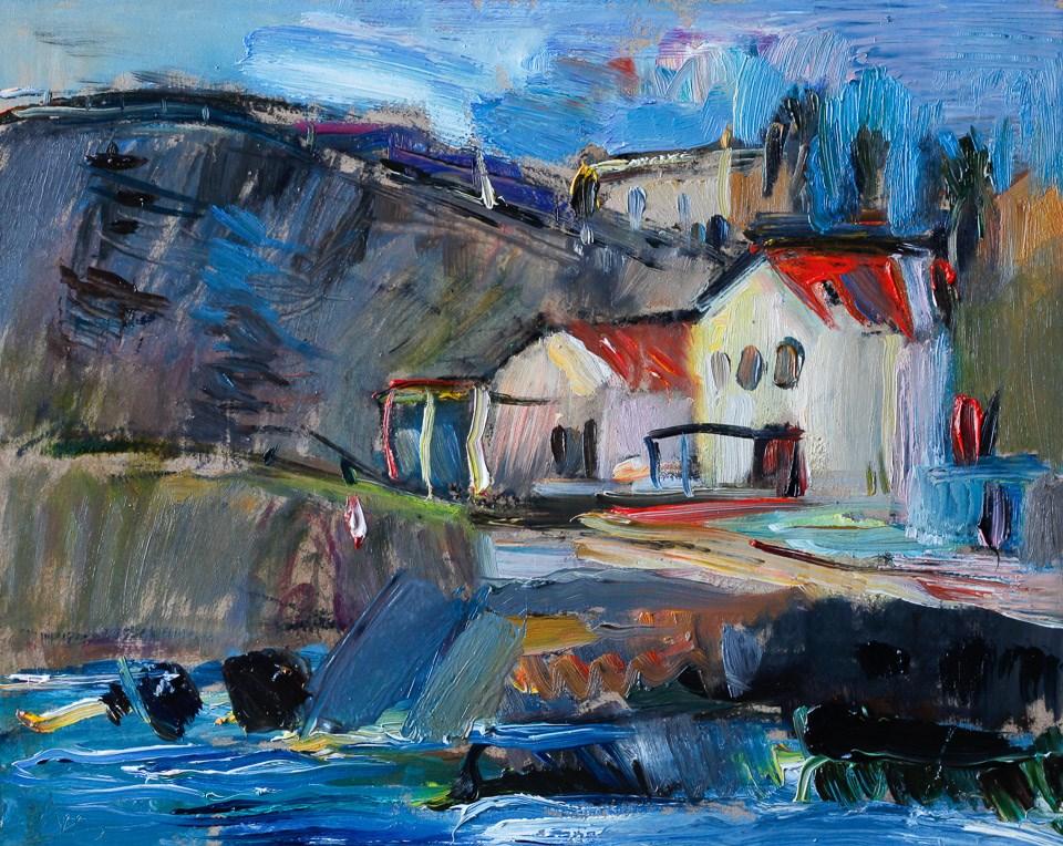"""""""Mediterranean Summer House"""" original fine art by Anna Fine Art"""