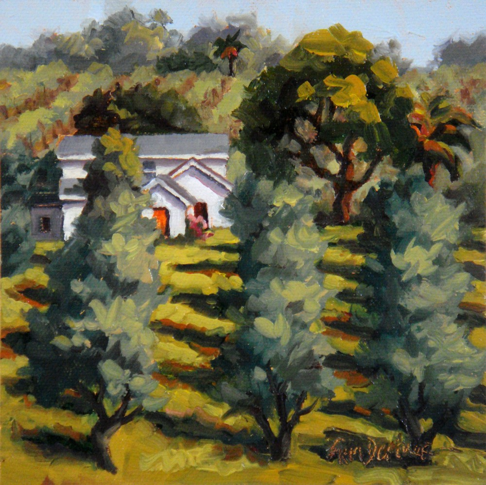 """California Olives"" original fine art by Erin Dertner"