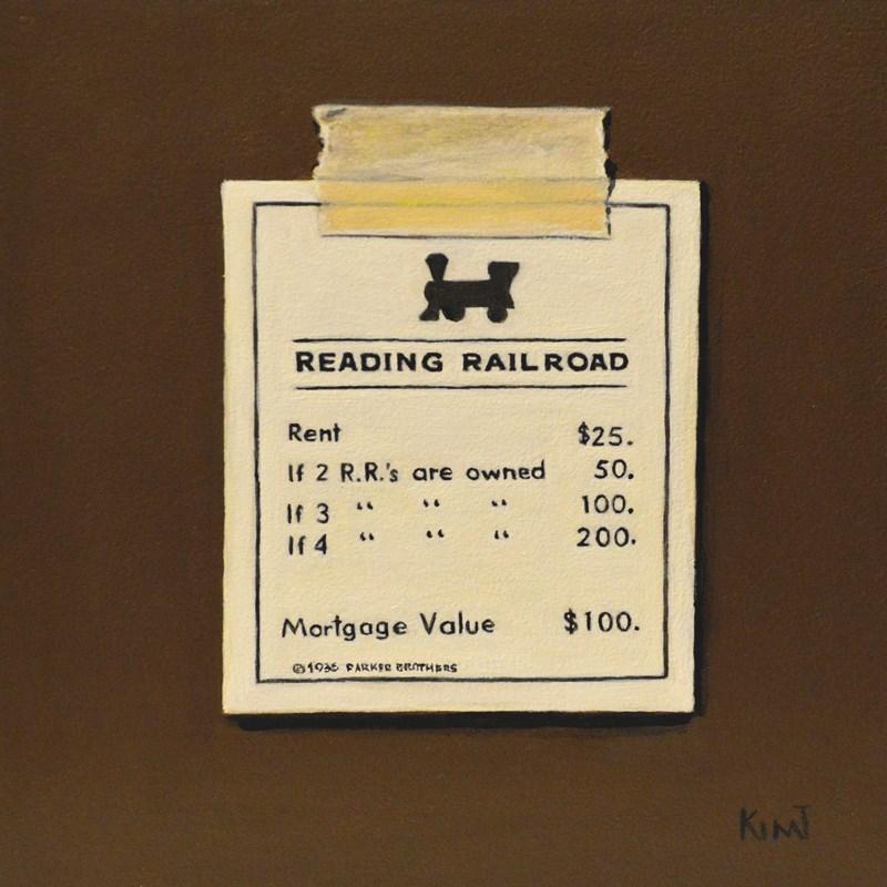 """Reading Railroad"" original fine art by Kim Testone"
