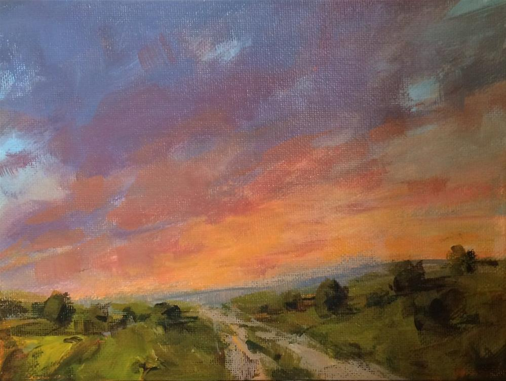 """Chasing Sky"" original fine art by Shannon Bauer"