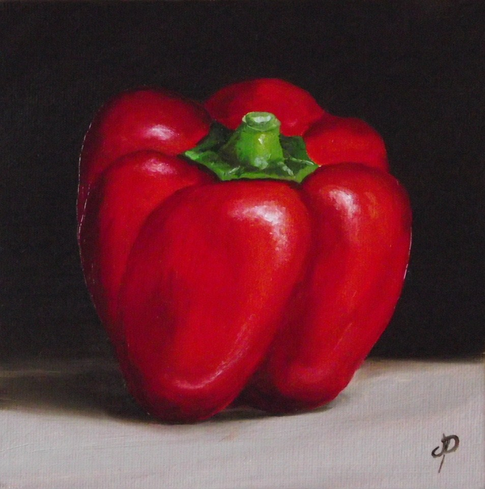 """""""Red, Yellow and Green Peppers"""" original fine art by Jane Palmer"""