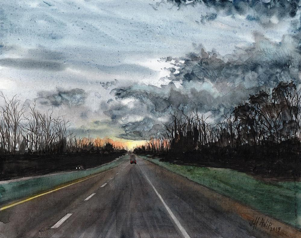 """Another Lonely Road"" original fine art by Jeff Atnip"