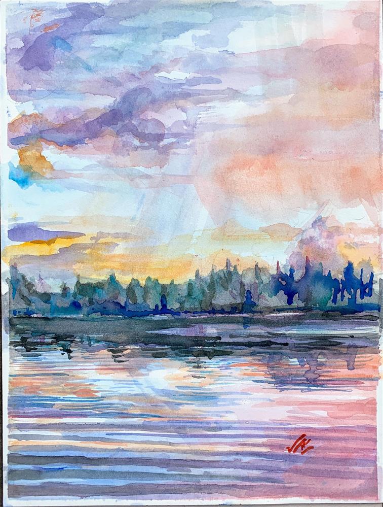 """""""Raquette Lake Inlet, 2020"""" original fine art by Jean Krueger"""