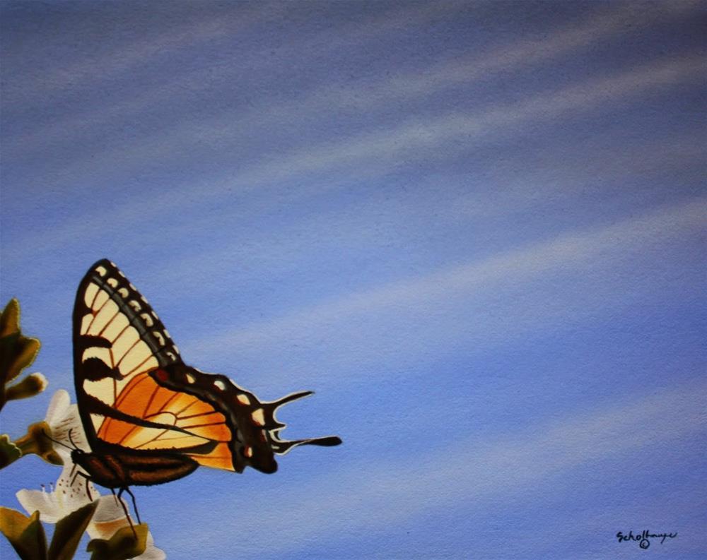 """Spring Wings"" original fine art by Fred Schollmeyer"