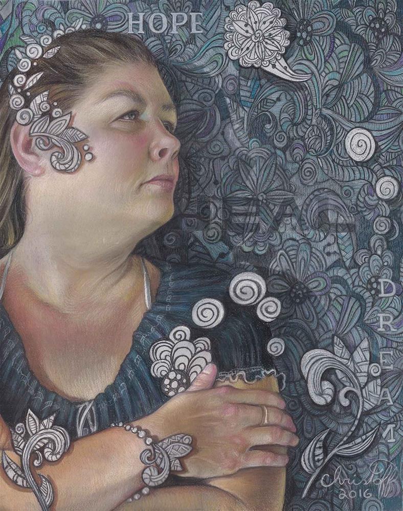 """Listening to Chopin"" original fine art by emily Christoff-Flowers"