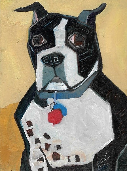 """Boxer"" original fine art by Elizabeth See"