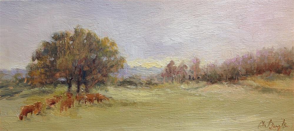"""Morning"" original fine art by Christine Bayle"