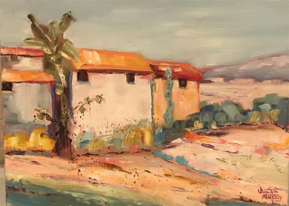 """Tuscan Hillside"" original fine art by Judie Mulkey"