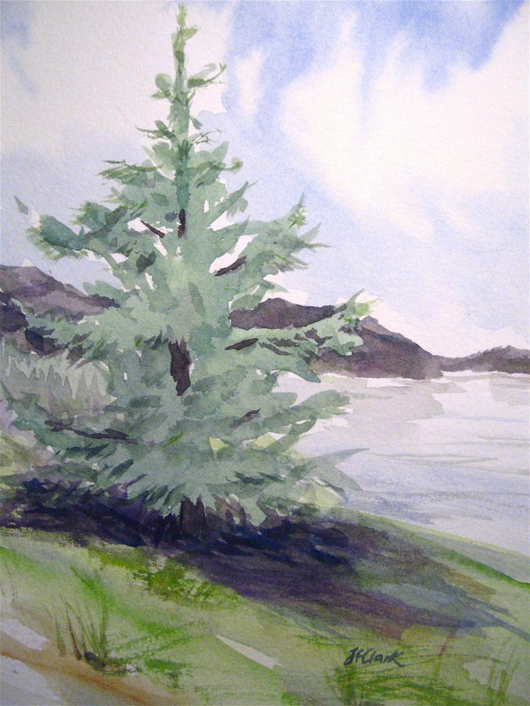 """Lakeside Sentinel"" original fine art by Judith Freeman Clark"