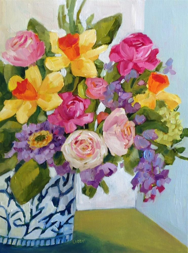 """""""Asian Vase"""" original fine art by Libby Anderson"""