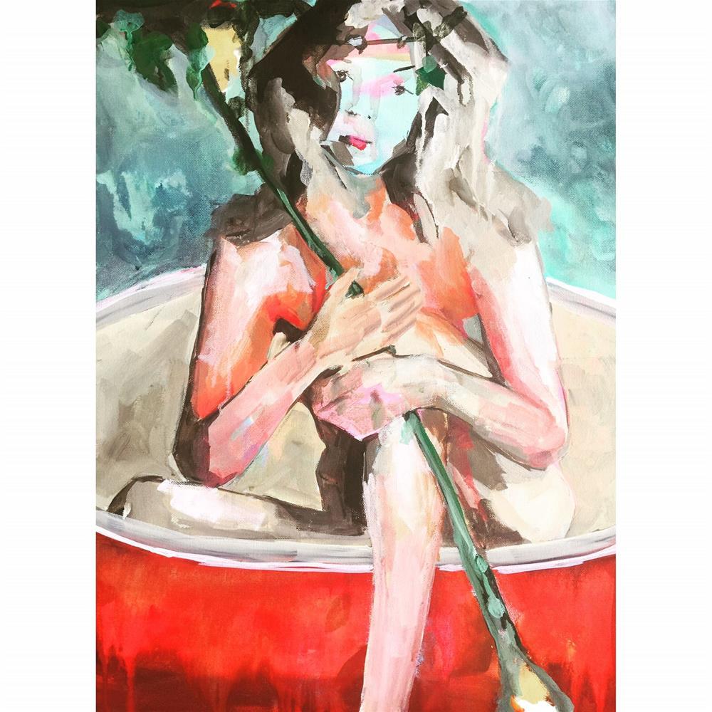 """623 Take to the Oars"" original fine art by Jenny Doh"