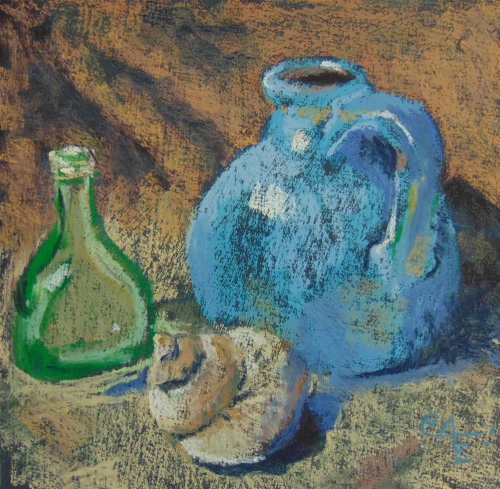 """Little Blue Jug"" original fine art by Catherine Kauffman"
