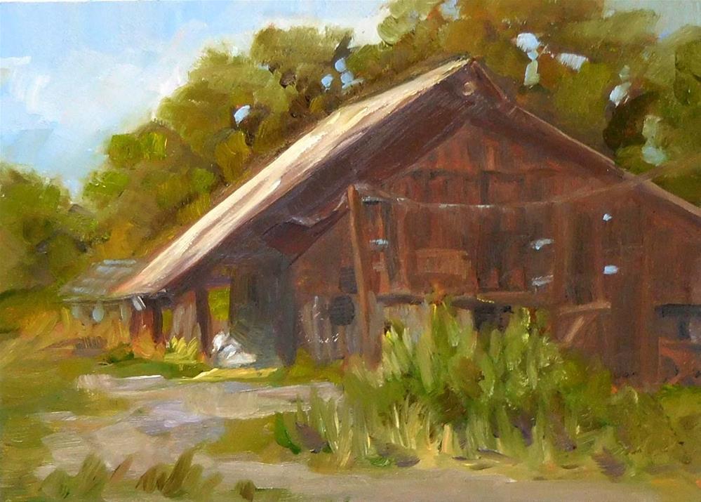 """""""Old Big Barn"""" original fine art by Cietha Wilson"""