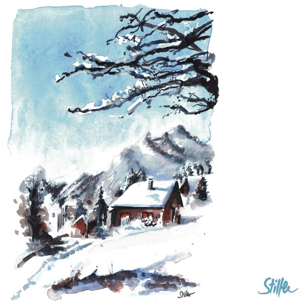 """""""3404 Snowy Mountain Village"""" original fine art by Dietmar Stiller"""