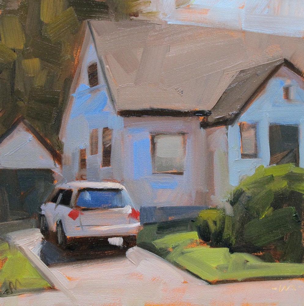 """At Home on Saturday"" original fine art by Carol Marine"