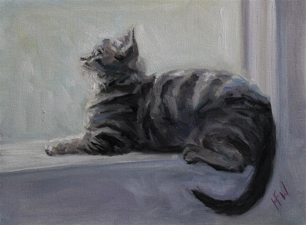 """Sunny Windowsill"" original fine art by H.F. Wallen"