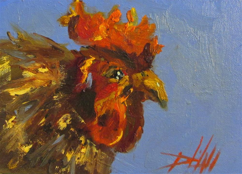 """""""Rooster Call"""" original fine art by Delilah Smith"""